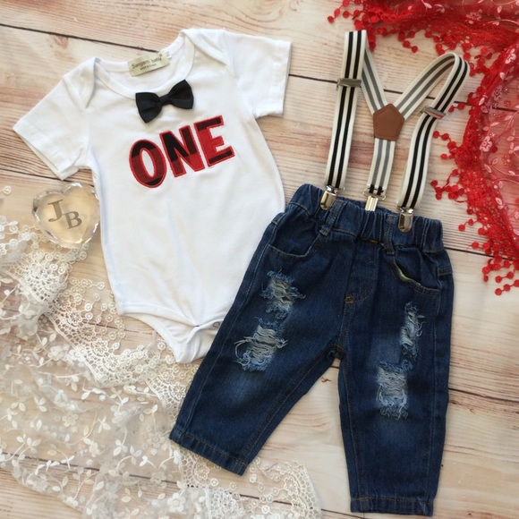 Boutique Baby Boy 1st Birthday Outfit